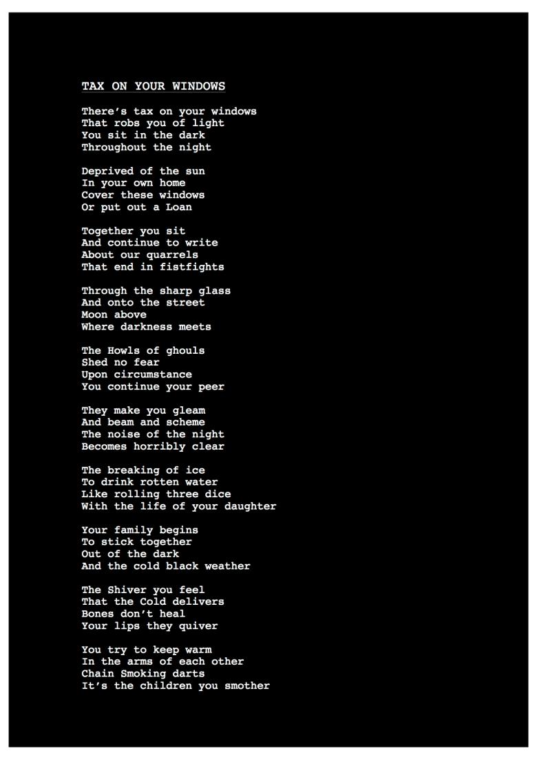 Tax These Windows Black (Poem)